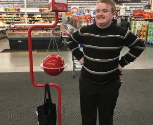Garrett has started his seasonal employment with the Salvation Army Christmas Kettle Campaign
